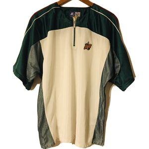 Seattle Sonics Large Starter Jersey 1/4 Zip Shirt